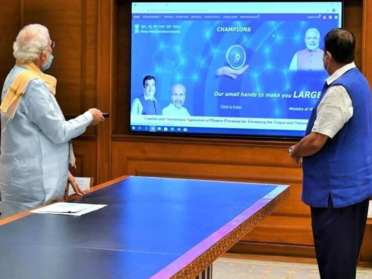 PM Modi launches CHAMPIONS: Technology Platform to empower MSMEs_40.1