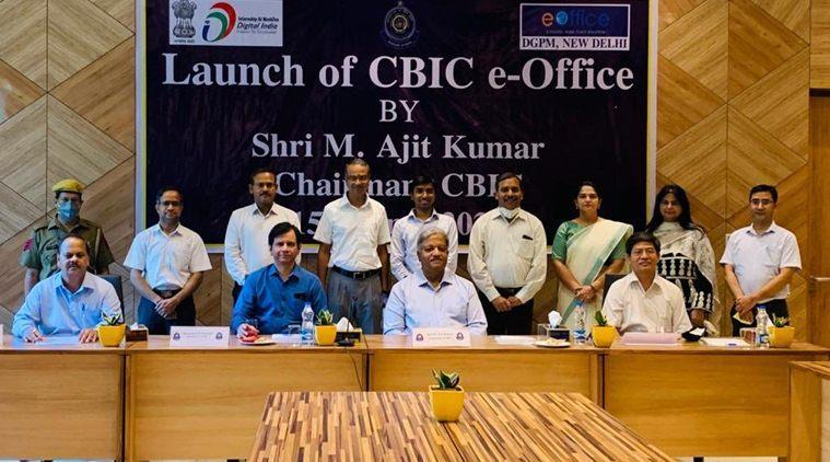 "CBIC Chairman M. Ajit Kumar launches ""e-Office"" application_40.1"