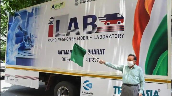 Harsh Vardhan launched India's 1st Mobile Lab for COVID-19_40.1