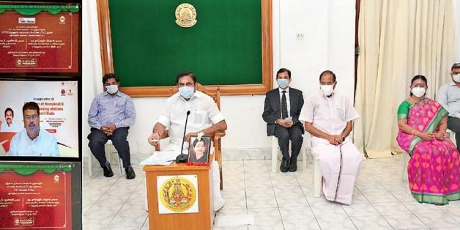 Tamil Nadu CM K. Palaniswami inaugurates compressed biogas plant_40.1