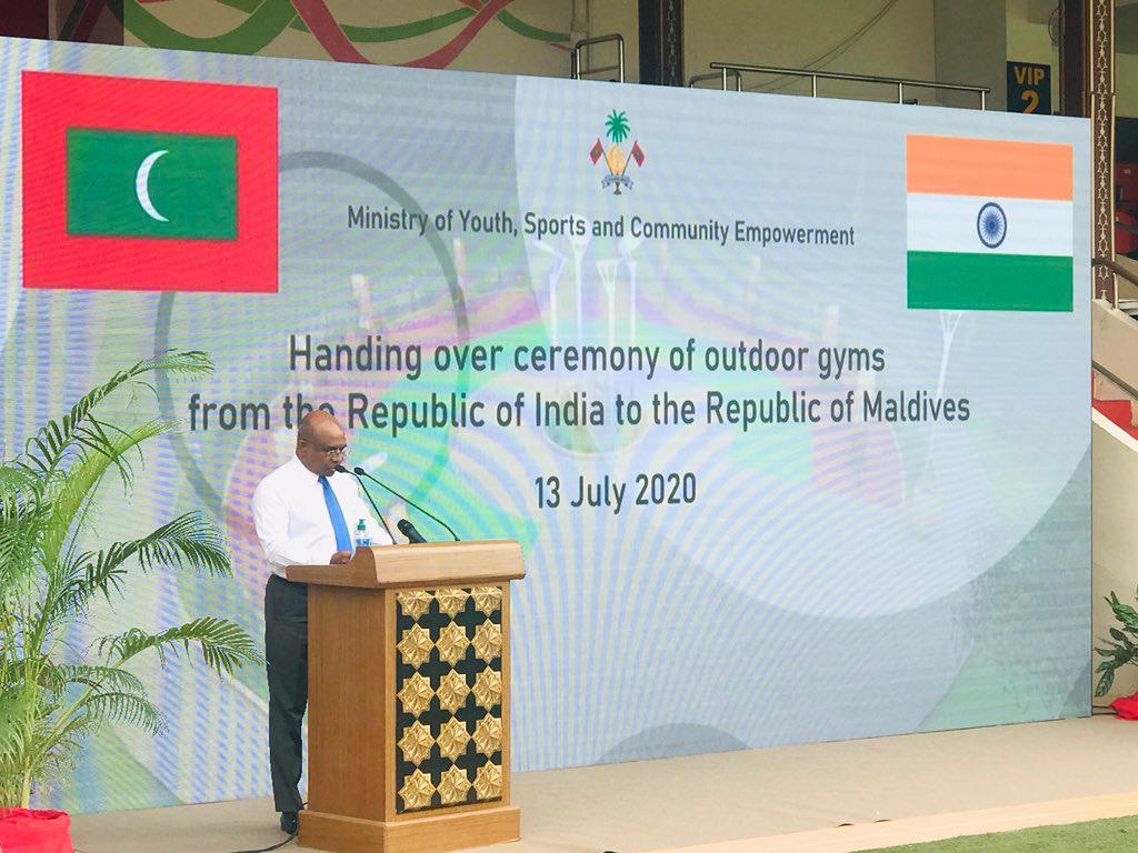 India hands over outdoor fitness equipment to Maldives_40.1