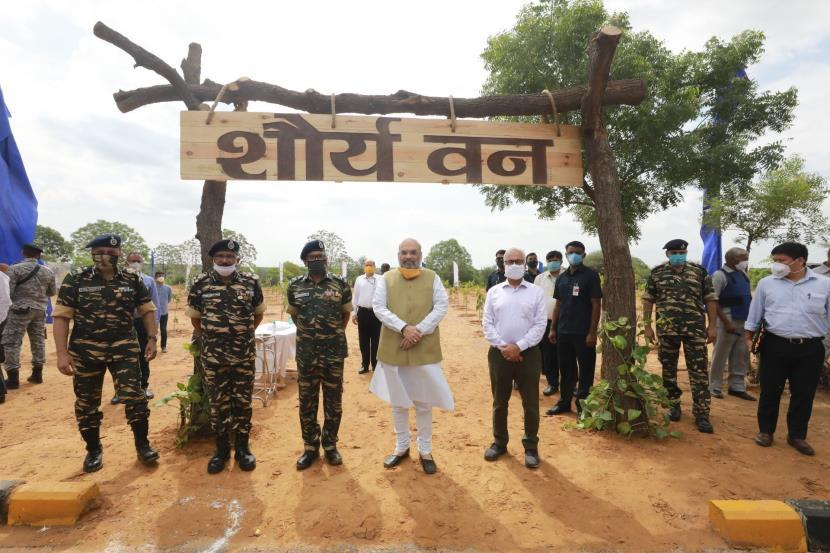 Amit Shah launches CAPF's nationwide tree plantation drive_40.1