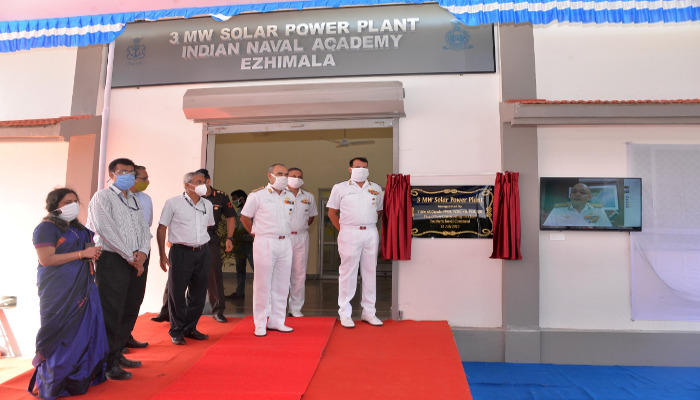 Largest Solar Power Plant of Indian Navy Commissioned in Ezhimala_40.1
