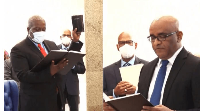 Mark Phillips sworn in as Prime Minister of Guyana_40.1
