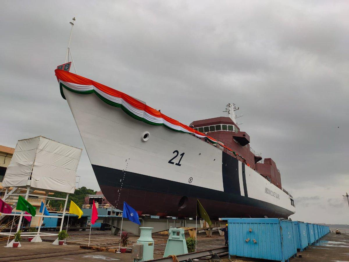 ICG's fourth Offshore Patrol Vessel 'Sarthak' launched_40.1