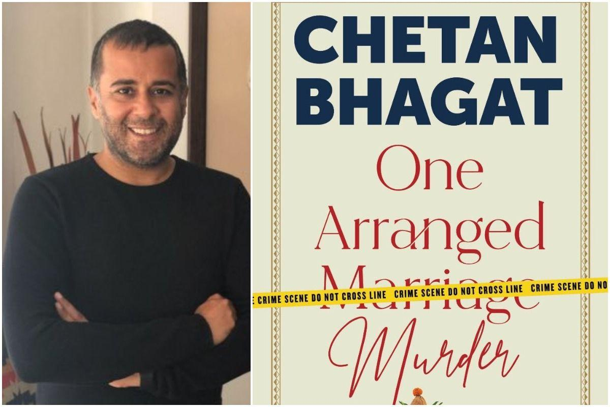 A book titled 'One Arranged Murder' authored by Chetan Bhagat_40.1
