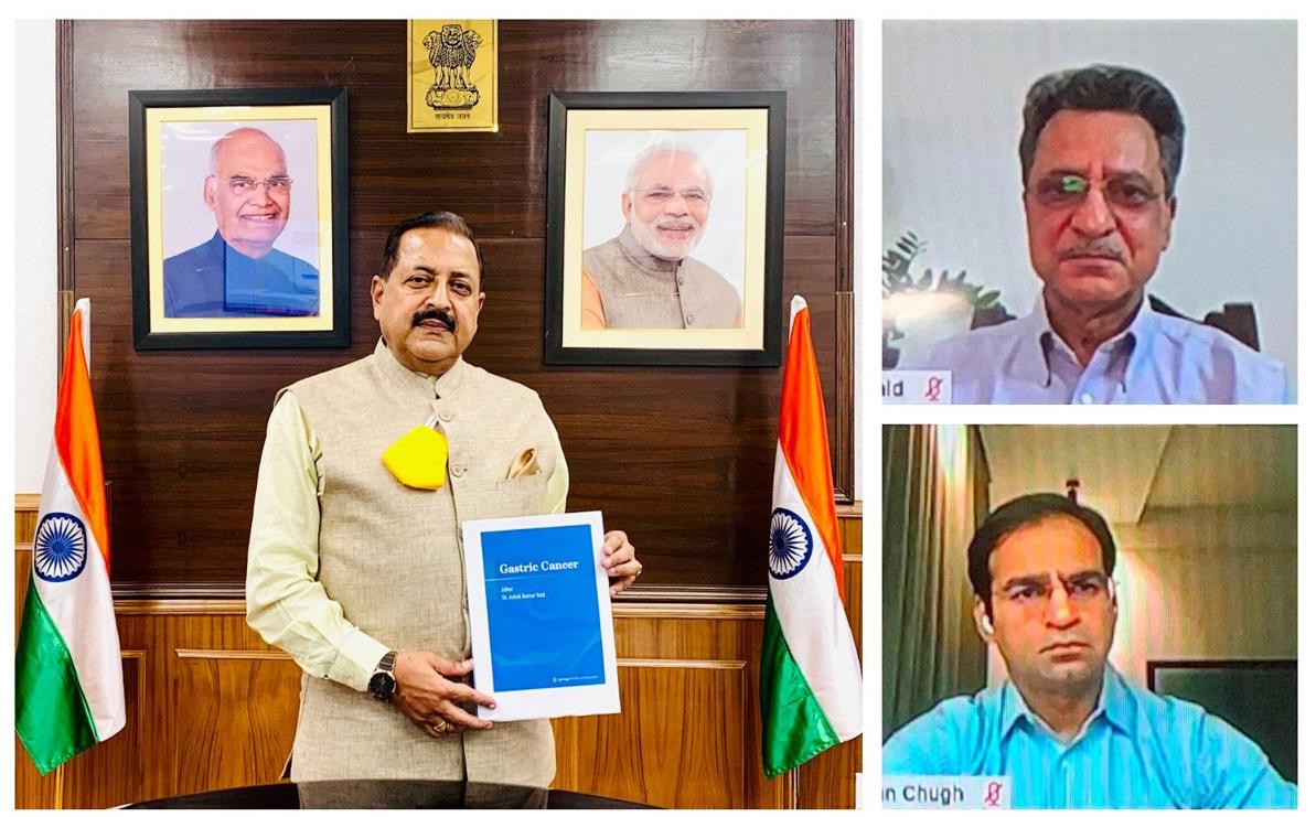 """A book titled """"Gastric Cancer"""" released by Jitendra Singh_40.1"""