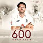 James Anderson becomes 1st fast bowler to take 600 Test wickets