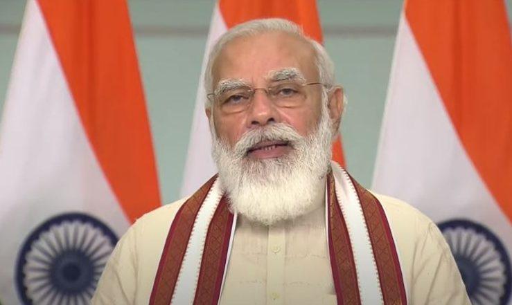 PM Modi addresses the 'Grih Pravesham' event in MP_40.1