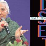 "A book titled ""Voices of Dissent"" authored by Romila Thapar"