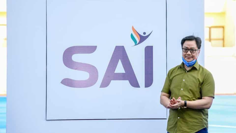 Kiren Rijiju launches new logo of Sports Authority of India_40.1