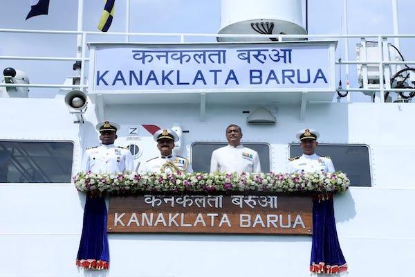 Indian Coast Guard Vessel Karnaklata Barua commissioned at Kolkata_40.1