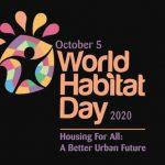 World Habitat Day 2020: 5 October