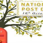 National Postal Day is celebrated on 10 October