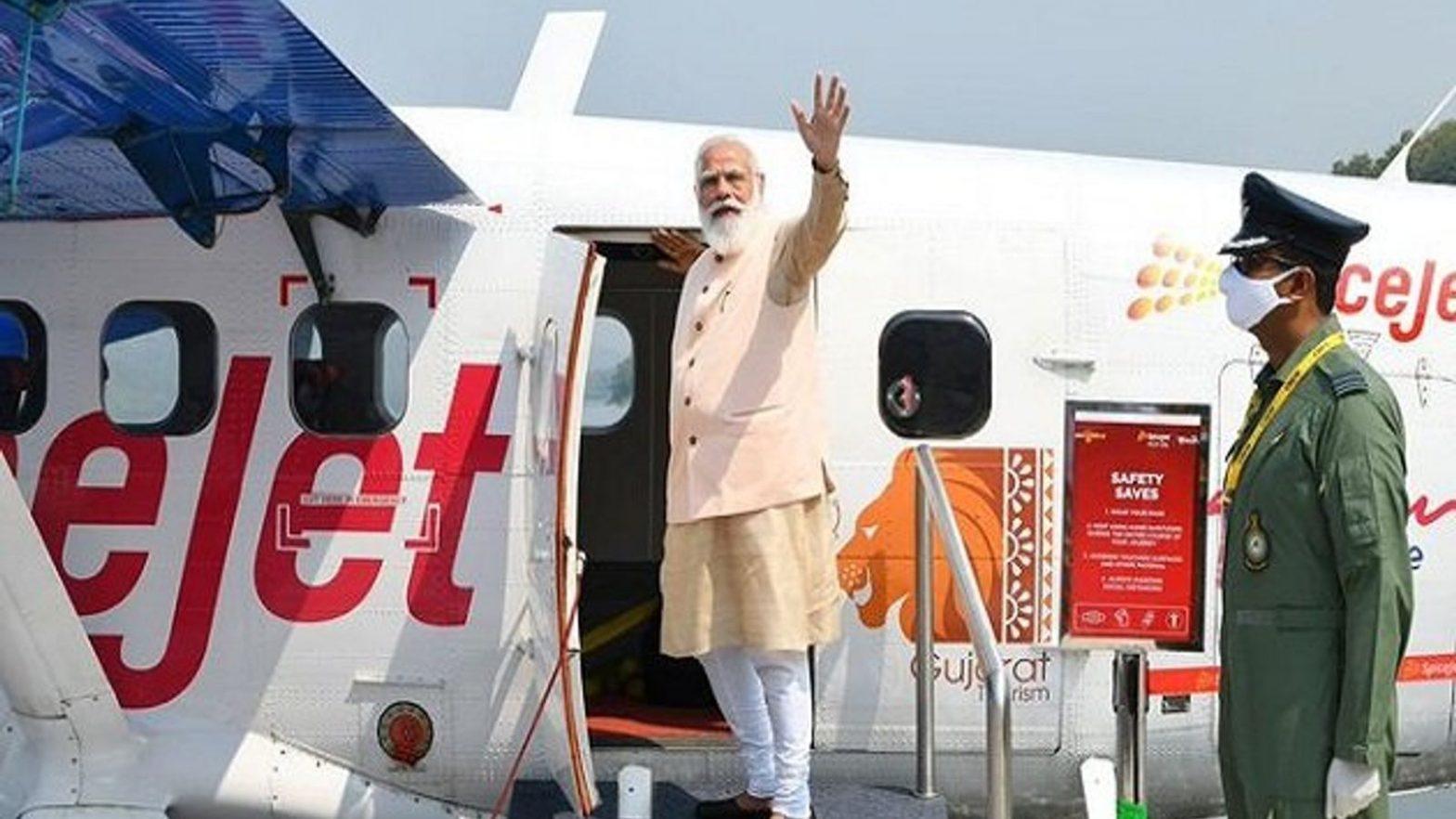 PM Modi launches India's first seaplane service in Gujarat_40.1