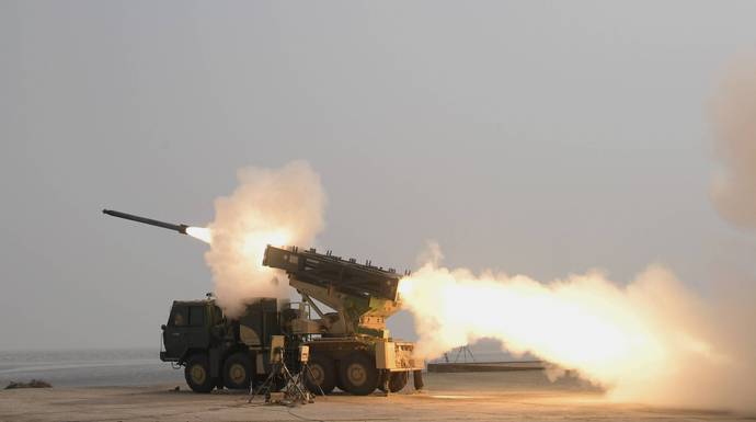 India successfully test-fires enhanced version of PINAKA rocket system_40.1