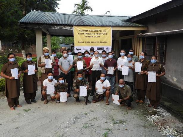 Pakke Tiger Reserve provide Covid-19 Insurance to Green Soldiers_40.1