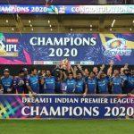 Mumbai Indians wins IPL 2020 trophy