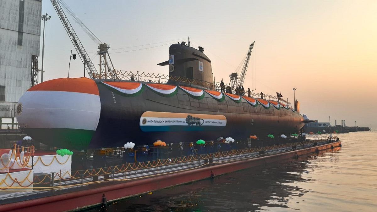 "Indian Navy launches 5th Scorpene Submarine ""Vagir""_40.1"