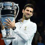 Novak Djokovic lifts ATP Year-end No. 1 Trophy for 6th time
