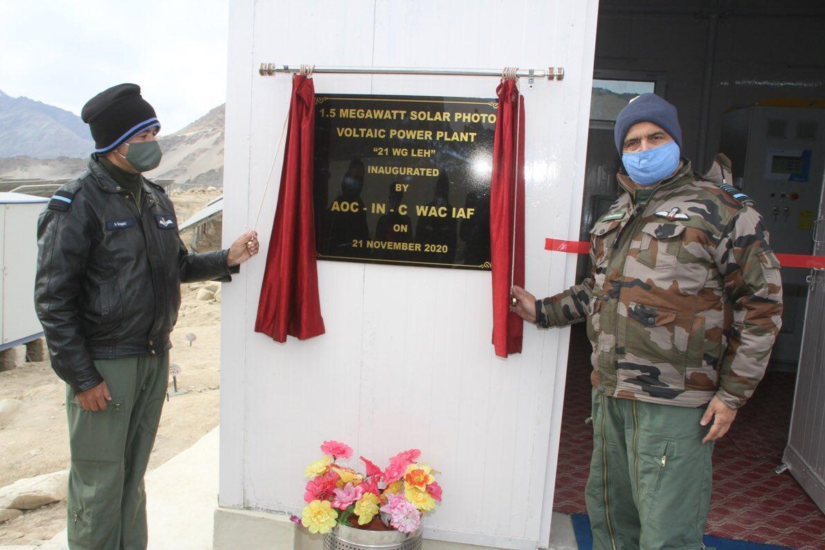 Ladakh gets largest solar project at Leh Indian Air Force station_40.1