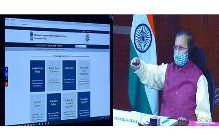 Prakash Javadeker launches India Climate Change Knowledge Portal_40.1