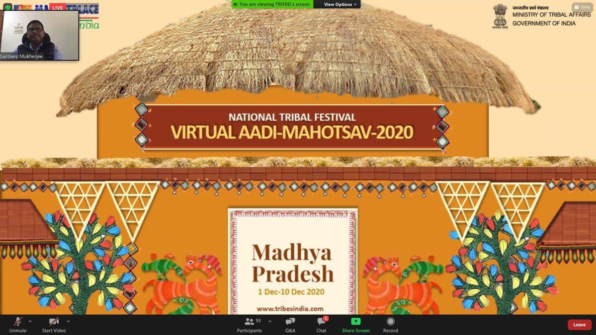 "Arjun Munda e-launches ""Virtual Aadi Mahotsav-Madhya Pradesh""_40.1"