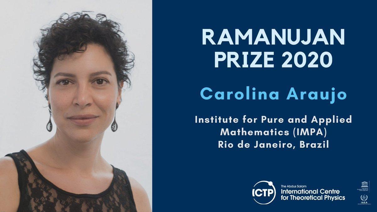 Carolina Araujo awarded 2020 Ramanujan Prize for Young Mathematicians_40.1