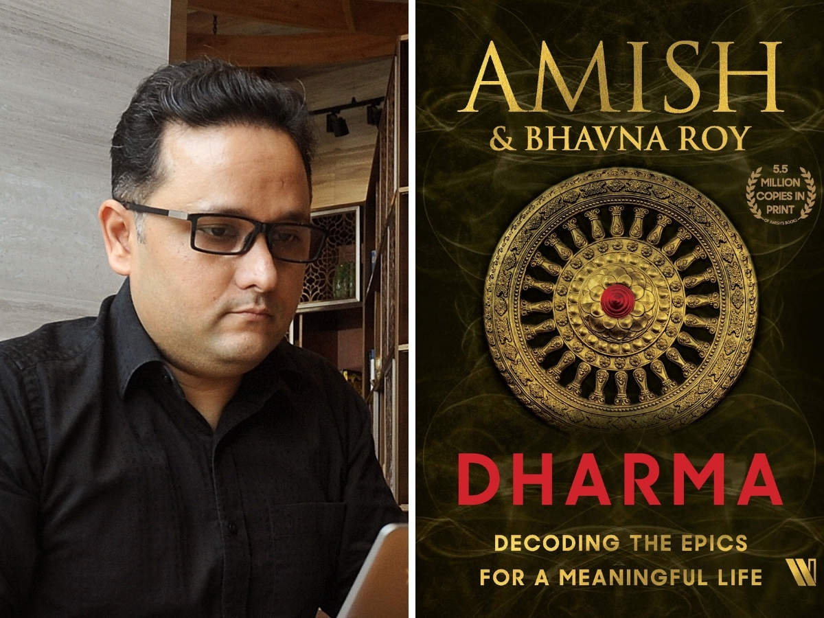 A book titled 'Dharma' authored by Amish Tripathi_40.1