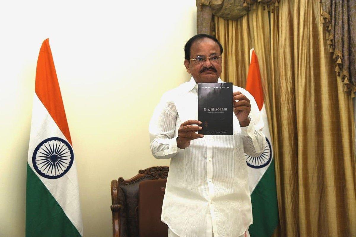 VP Venkaiah Naidu virtually released the book 'Oh Mizoram'_40.1