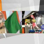 PM Modi flagged off India's first driverless train on Delhi Metro