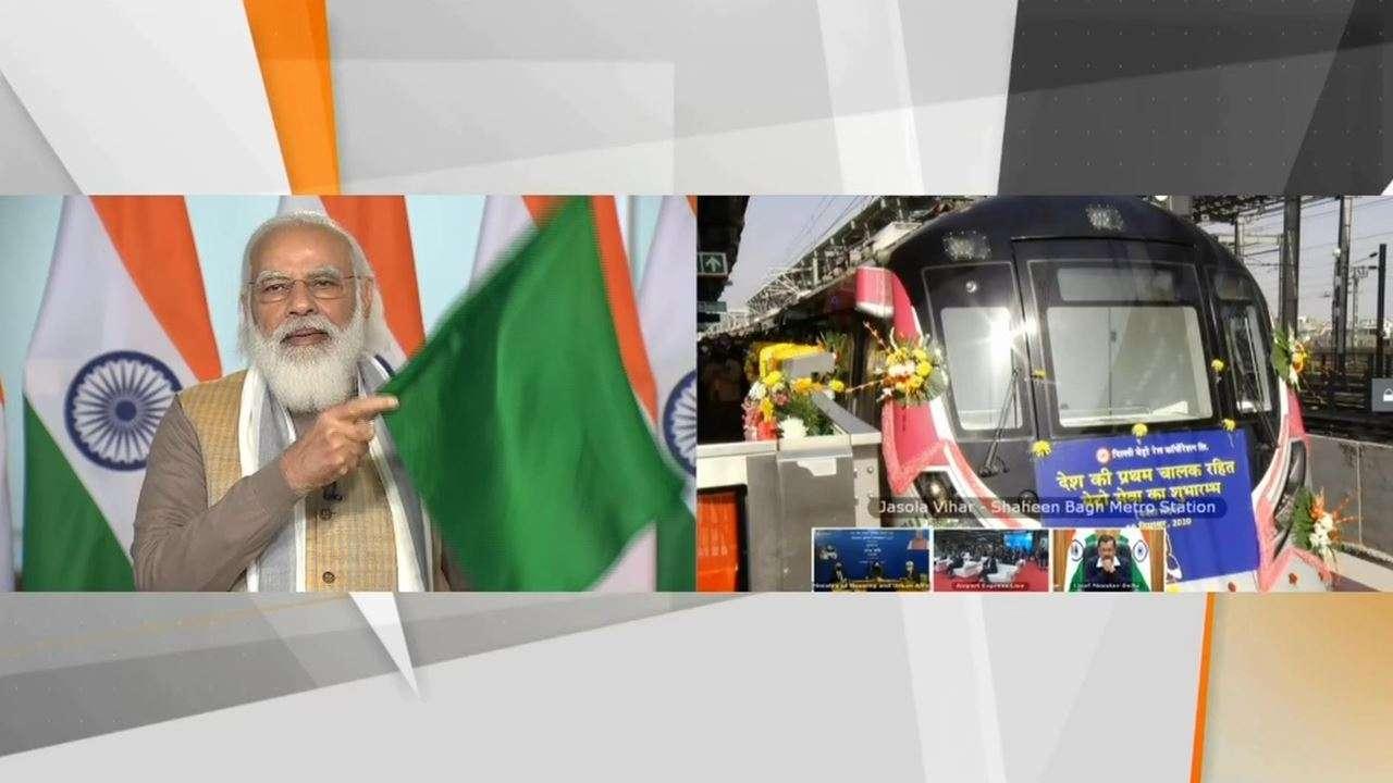 PM Modi flagged off India's first driverless train on Delhi Metro_40.1