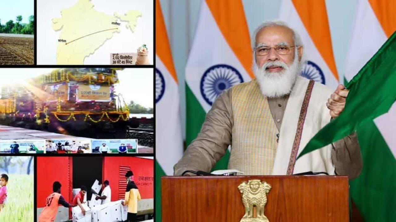 Prime Minister Narendra Modi flags off 100th 'Kisan Rail'_40.1