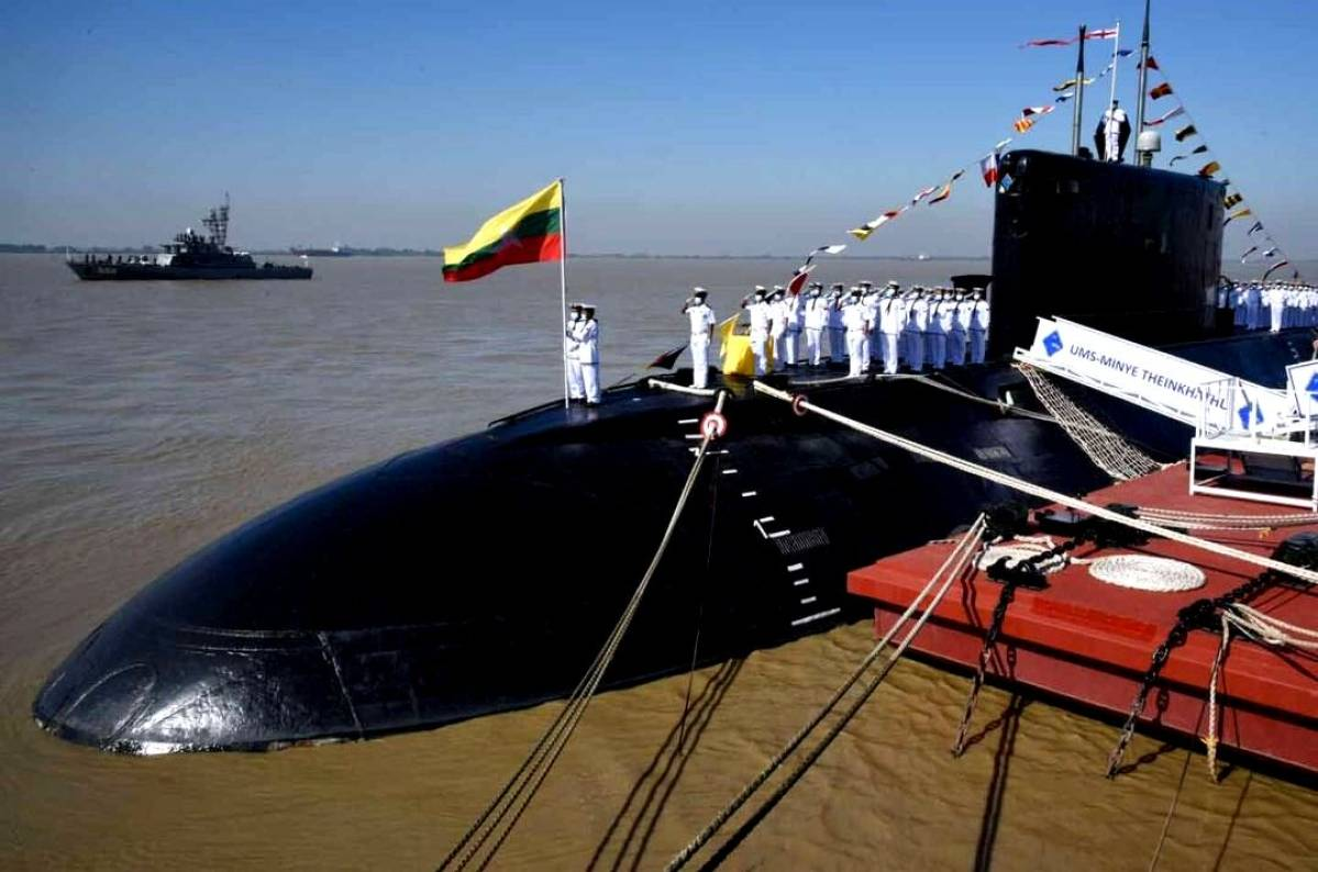 Myanmar Navy formally commissions INS Sindhuvir submarine_40.1