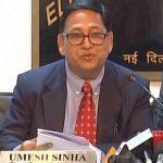Umesh Sinha named deputy election commissioner
