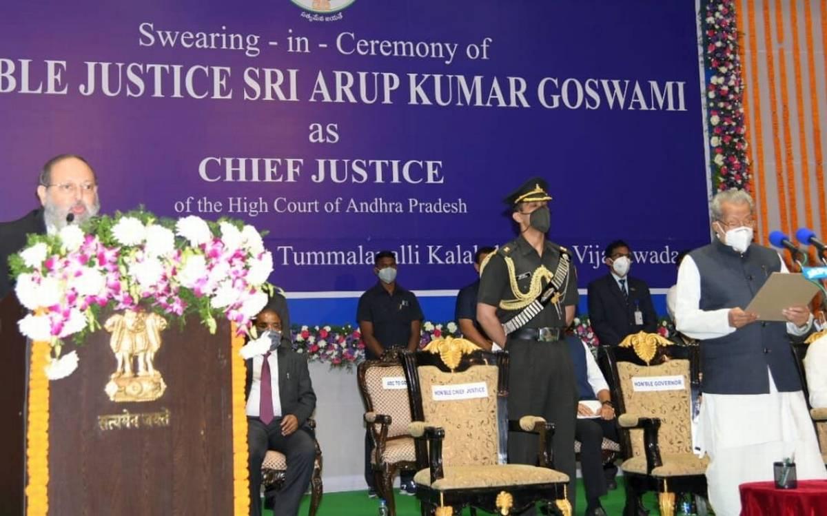 Arup Kumar Goswami sworn in as CJ of Andhra Pradesh High Court_40.1