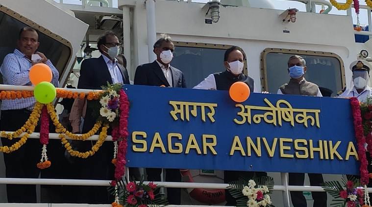 Harsh Vardhan launches Coastal Research Vessel Sagar Anveshika_40.1