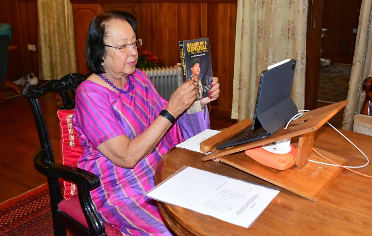 """Manipur Guv released book """"Making of a General A Himalayan Echo""""_40.1"""