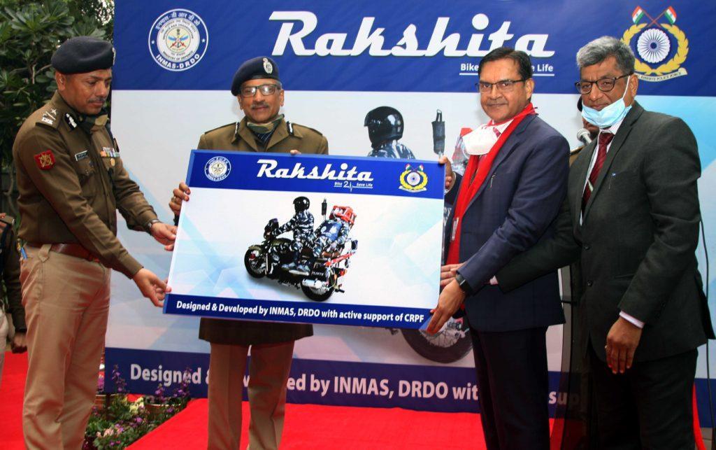 DRDO hands over Motor Bike Ambulance Rakshita to CRPF_40.1