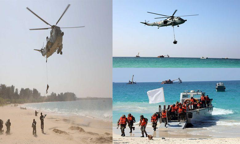 Indian Navy conducts exercise AMPHEX – 21 with Army and Air Force_40.1