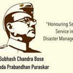 Rajendra Kumar Bhandari wins Subhash Bose Aapda Prabandhan Puraskar 2021