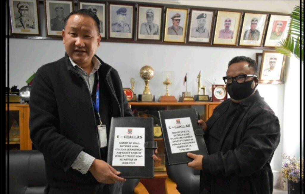Meghalaya police inks MoU with SBI for e-Challan_40.1