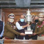 Delhi Police receives Best Marching Contingent Trophy-2021