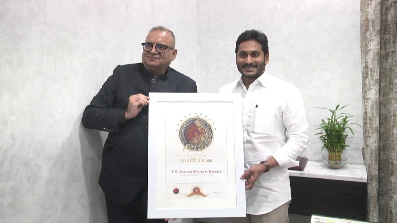 YS Jagan Mohan Reddy conferred SKOCH Chief Minister of the Year Award_40.1