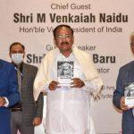 Vice President releases 'Maverick Messiah', a political biography on NTR