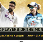 Ashwin, Beaumont Win ICC Player of Month Awards for February