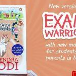 A book titled exam warriors updated version released by PM Modi