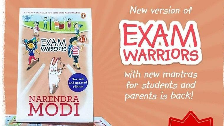 A book titled exam warriors updated version released by PM Modi_40.1