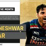 Bhuvneshwar Kumar wins ICC Players of the Month award