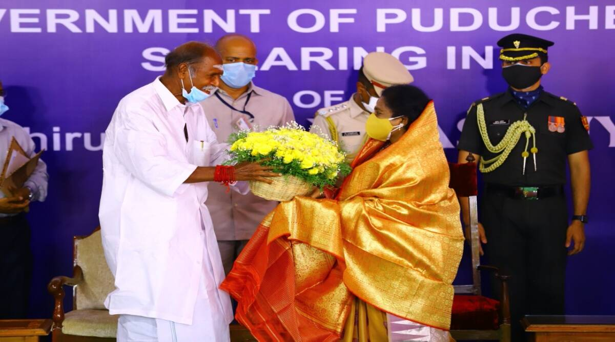 N Rangasamy Sworn in as Chief Minister of Puducherry_40.1